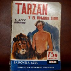 Libros antiguos: TARZÁN Y EL HOMBRE LEÓN. E. RICE LA NOVELA E-4. Lote 53379833