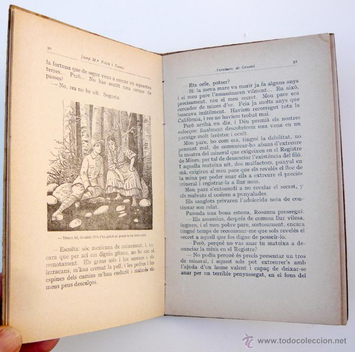 Libros antiguos: AVENTURES DE GRAZIEL / J.M. FOLCH I TORRES / IMP. ELZEVIRIANA / 1ª ED. / ILUSTRADO X OPISSO / RARO - Foto 4 - 53695212