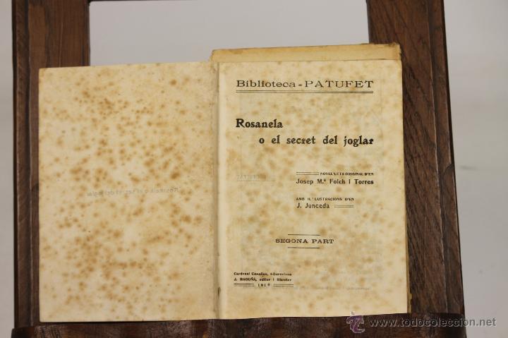 7239 - BIBLIOTECA PATUFET. 15 VOLUM(VER DESCRIP). J. FOLCH I TORRES. 1917-1935. (Libros Antiguos, Raros y Curiosos - Literatura Infantil y Juvenil - Novela)