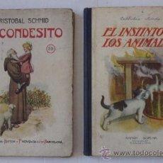 Libros antiguos: EL CONDESITO, EL NIÑO PERDIDO Y EL INSTINTO DE LOS ANIMALES - BIBLIOTECA SELECTA, ED. SOPENA. Lote 55045927