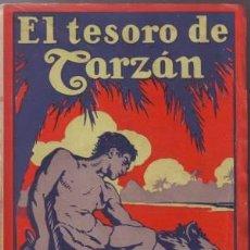 Libros antiguos: BURROUGHS, EDGAR RICE: EL TESORO DE TARZAN. BARCELONA, GUSTAVO GILI 1927. PRIMERA EDICIÓN EN ESPAÑO. Lote 56303721