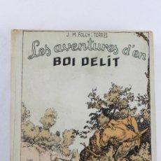 Libros antiguos: L-323 LES AVENTURES D'EN BOI DELIT EL BRAÇALET DE MARCIANA. JOSEP Mª FOLCH I TORRES ED. BAGUÑÁ 1927. Lote 56497935