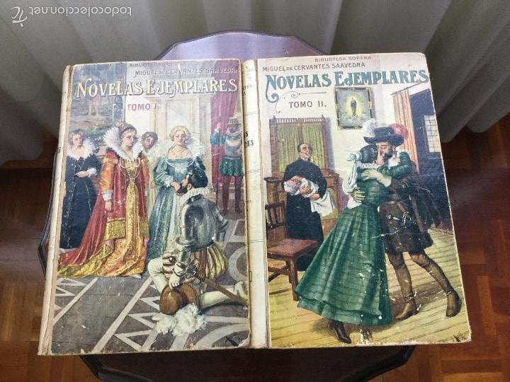 NOVELAS EJEMPLARES. MIGUEL DE CERVANTES. 2 TOMOS. (Libros Antiguos, Raros y Curiosos - Literatura Infantil y Juvenil - Novela)