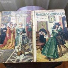 Libros antiguos: NOVELAS EJEMPLARES. MIGUEL DE CERVANTES. 2 TOMOS.. Lote 57691447