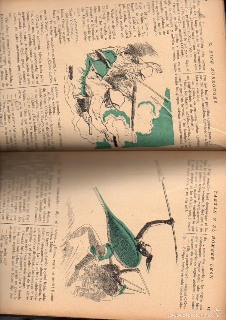 Libros antiguos: E. RICE BORROUGHS : TARZÁN Y EL HOMBRE LEÓN (NOVELA AZUL, 1935) ILUSTRACIONES DE NARRO - Foto 2 - 30924388