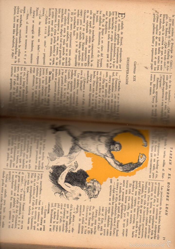 Libros antiguos: E. RICE BORROUGHS : TARZÁN Y EL HOMBRE LEÓN (NOVELA AZUL, 1935) ILUSTRACIONES DE NARRO - Foto 3 - 30924388