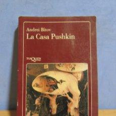 Libros antiguos: LA CASA PUSHKIN - ANDREI BÍTOV - TRADUC. JOSEP Mª GÜELL 1ª EDICION 1991 TUSQUETS -LA FLAUTA MAGICA-. Lote 174271187