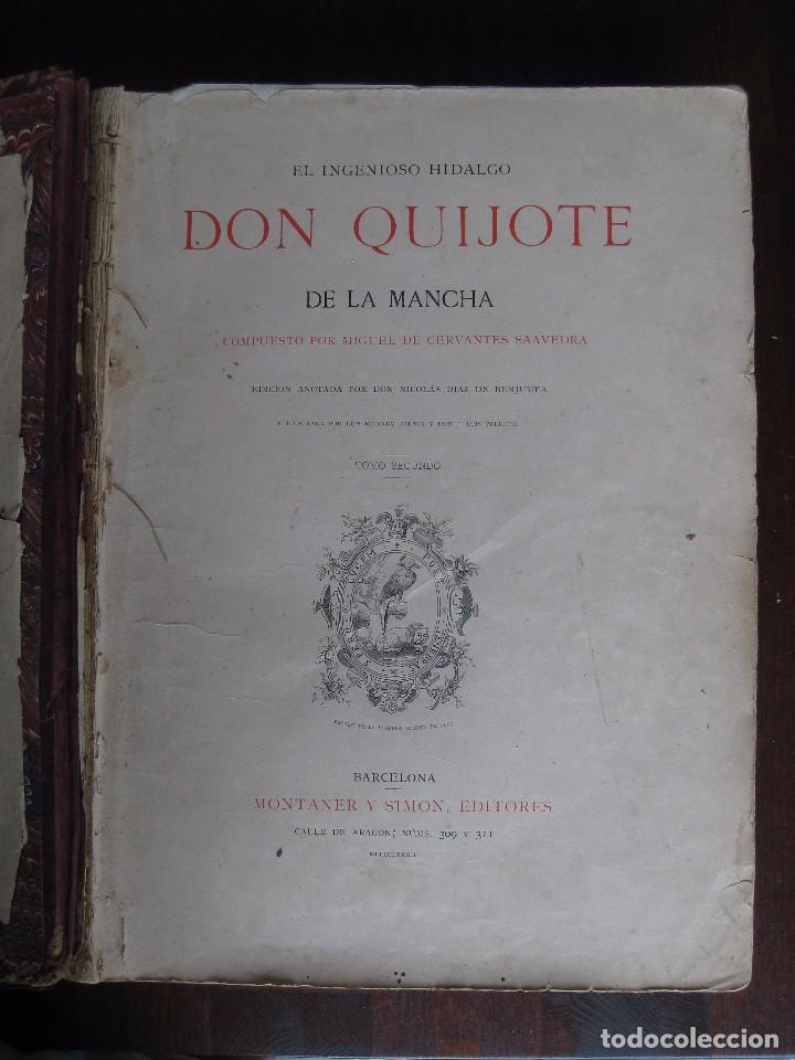 Libros antiguos: Don Quijote de la Mancha edición MDCCCLXXXIII - Foto 3 - 61804856