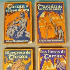 Libros antiguos: 4 VOLÚMENES DE TARZÁN. EDGAR RICE BURROUGHS. EDITORIAL GUSTAVO GILO. BARCELONA. AÑOS 20. Lote 63170544