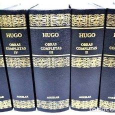 Libros antiguos: OBRAS COMPLETAS DE VICTOR HUGO - LOS 5 TOMOS - EDITORIAL AGUILAR. Lote 64908283