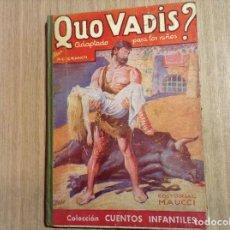 Libros antiguos: QUO VADIS EDITORIAL MAUCCI. Lote 66196674