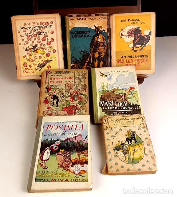 8305 - BIBLIOTECA PATUFET. 8 VOLUM. FOLCH I TORRES. (VER DESCRIP). VV. EDITORIALES. 1922/1946. (Libros Antiguos, Raros y Curiosos - Literatura Infantil y Juvenil - Novela)