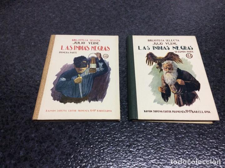 LAS INDIAS NEGRAS / JULIO VERNE , SELECTA SOPENA, - OBRA EN DOS TOMOS (Libros Antiguos, Raros y Curiosos - Literatura Infantil y Juvenil - Novela)