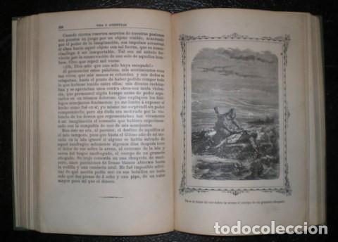 Libros antiguos: DEFOE, Daniel: VIDA Y AVENTURAS DE ROBINSON CRUSOE. Ed. Saturnino Calleja, Biblioteca Perla - Foto 3 - 76105623