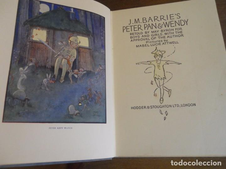 Libros antiguos: J.M. BARRIE: PETER PAN AND WENDY, HODDER & STOUGHTON, LONDON, 1930. - Foto 2 - 78346405
