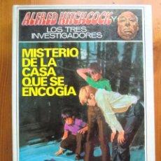 Libros antiguos: LIBRO ALFRED HITCHCOCK Y LOS TRES INVESTIGADORES: MISTERIO DE LA CASA QUE SE ENCOGÍA (1973) MOLINO. Lote 78368457