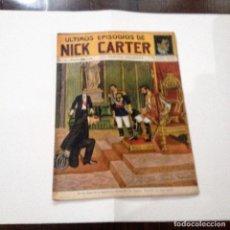 Libros antiguos: ULTIMOS EPISODIOS DE NICK CARTER, Nº 62. Lote 78522329