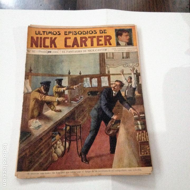 ULTIMOS EPISODIOS DE NICK CARTER, Nº 82 (Libros Antiguos, Raros y Curiosos - Literatura Infantil y Juvenil - Novela)