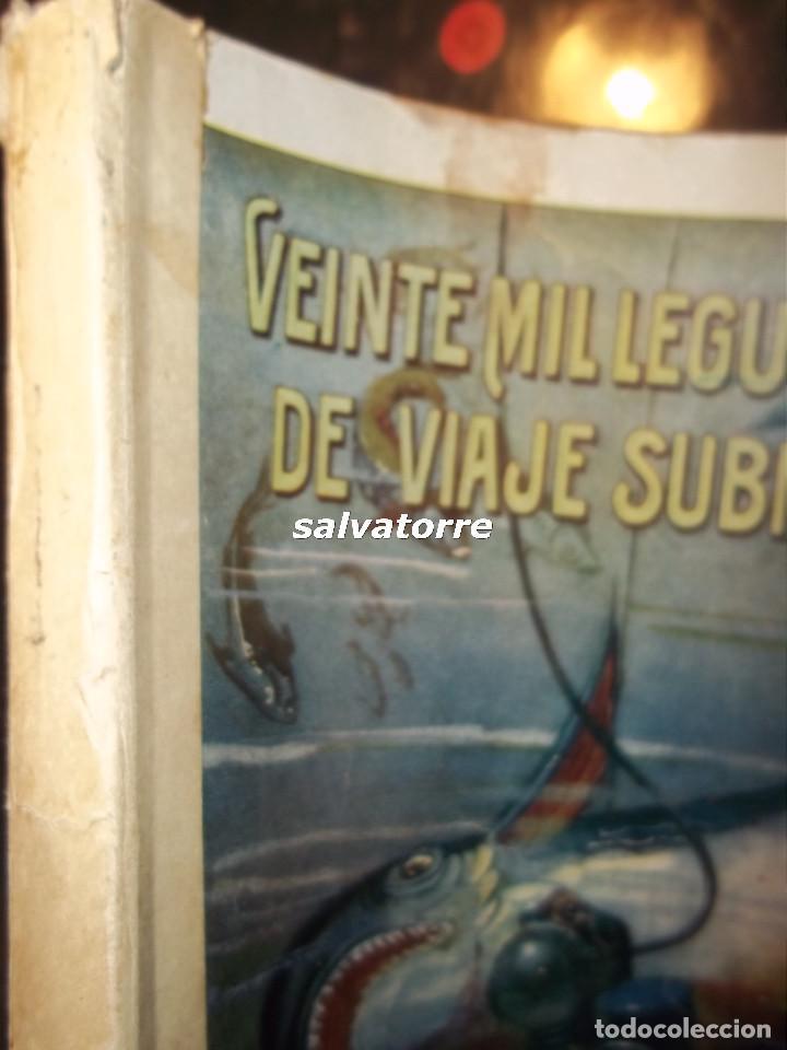 Libros antiguos: VEINTE MIL LEGUAS DE VIAJE SUBMARINO. VERNE, Julio.Editoral Ramón Sopena años 30. - Foto 3 - 82794584