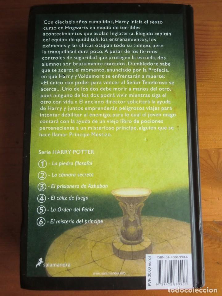 Libros antiguos: Libro HARRY POTTER Y EL MISTERIO DEL PRÍNCIPE (2006) de J. K. Rowling. Editorial Salamandra - Foto 2 - 84497404