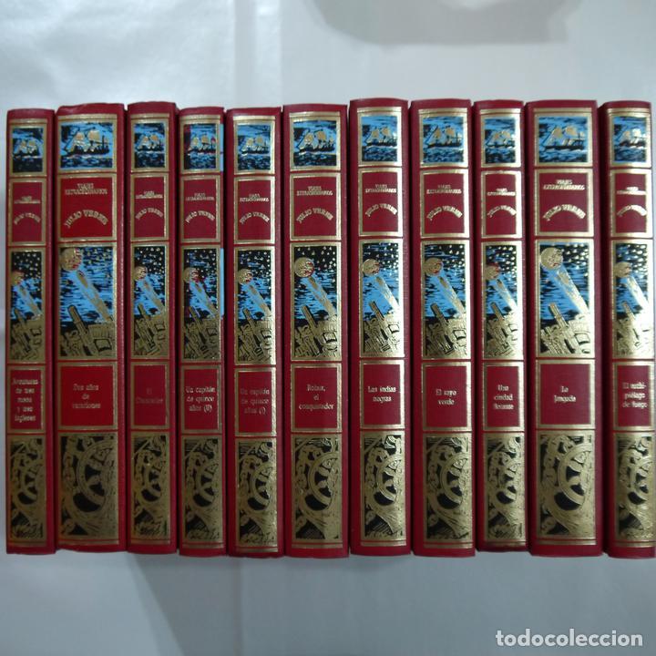 VIAJES EXTRAORDINARIOS. LOTE DE 11 LIBROS - JULIO VERNE - CLUB INTERNACIONAL DEL LIBRO - 1989 (Libros Antiguos, Raros y Curiosos - Literatura Infantil y Juvenil - Novela)