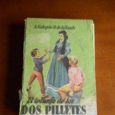 Libros antiguos: JUVENIL CADETE. NUMERO 98.- EL TRIUNFO DE LOS DOS PILLETES. MATEU - PORTADA FARIÑAS. Lote 90688465