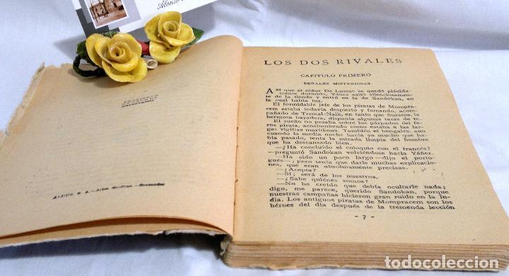 Libros antiguos: LOS DOS RIVALES - EMILIO SALGARI - EDITORIAL SATURNINO CALLEJA. PPOS XXs. - Foto 4 - 90770615