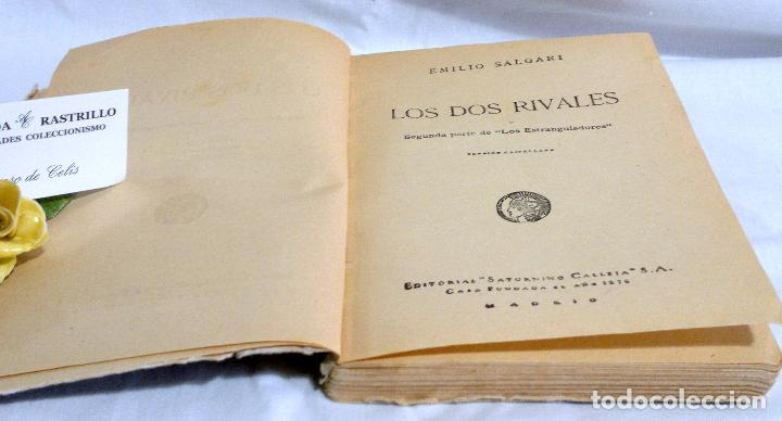 Libros antiguos: LOS DOS RIVALES - EMILIO SALGARI - EDITORIAL SATURNINO CALLEJA. PPOS XXs. - Foto 5 - 90770615