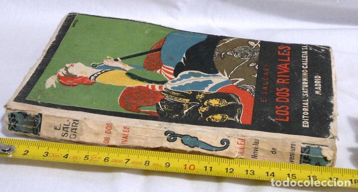 Libros antiguos: LOS DOS RIVALES - EMILIO SALGARI - EDITORIAL SATURNINO CALLEJA. PPOS XXs. - Foto 11 - 90770615