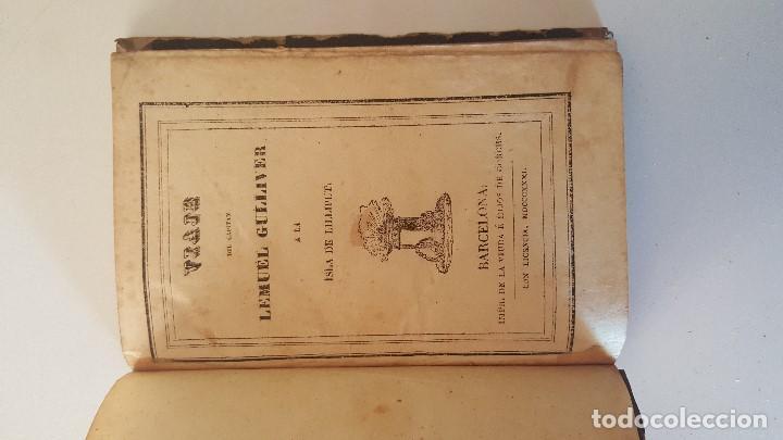 Libros antiguos: VIAJE DEL CAPITAN LEMUEL GULLIVER A LA ISLA DE LILLIPUT - 1831 - Foto 2 - 92459615