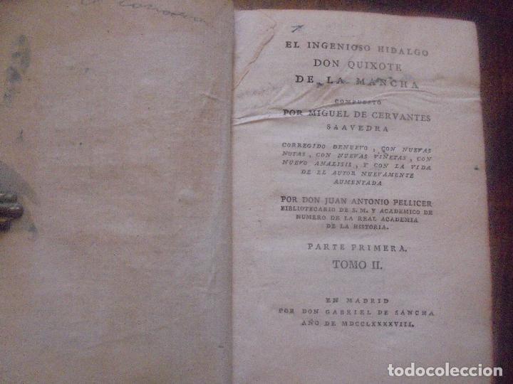 Libros antiguos: Don quijote de la Mancha. - Foto 14 - 92731615