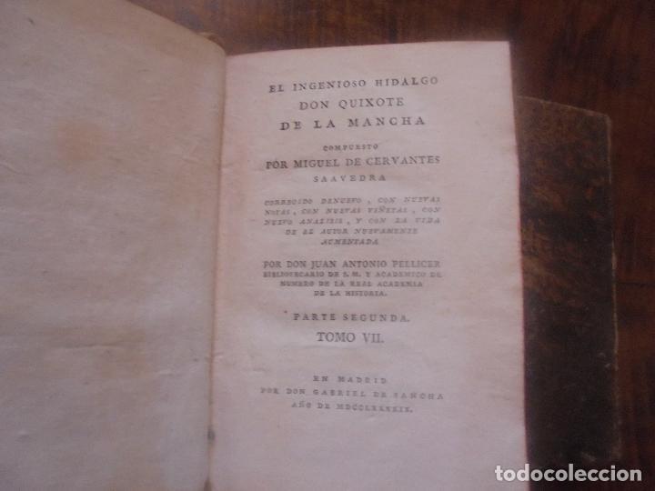 Libros antiguos: Don quijote de la Mancha. - Foto 26 - 92731615