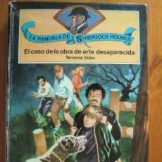 Libros antiguos: LIBRO LA PANDILLA DE SHERLOCK HOLMES: EL CASO DE LA OBRA DE ARTE DESAPARECIDA (1980) Nº 1. UNICORNIO. Lote 93885655