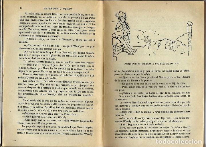 Libros antiguos: VE15- ANTIGUO CUENTO INFANTIL PETER PAN Y WENDY-EL NIÑO QUE NO QUISO CRECER,AÑO 1934 DE J.M.BARRIE - Foto 5 - 96258507