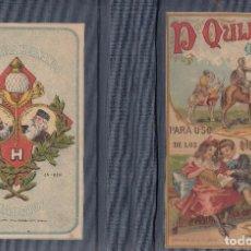 Libros antiguos: MIGUEL DE CERVANTES. DON QUIJOTE DE LA MANCHA. COMPENDIADO PARA NIÑOS. MADRID, 1930.. Lote 98942171