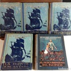 Libros antiguos: LOS GRANDES EXPLORADORES ESPAÑOLES. 5 VOLÚMENES. SEIX Y BARRAL. 1924/28.. Lote 99427719