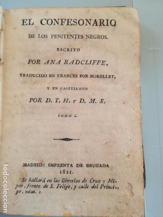 Libros antiguos: LIBRO,EL CONFESIONARIO DE LOS PENITENTES NEGROS, SIGLO XIX, AÑO 1821,EPOCA NAPOLEON BONAPARTE,TOMO I - Foto 3 - 103103255