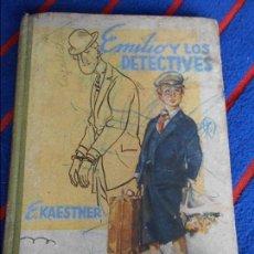 Libros antiguos: EMILIO Y LOS DETECTIVES. ERICH KAESTNER. ILUSTRACIONES DE WALTER TRIER. EDITORIAL JUVENTUD. TAPA DUR. Lote 103105551