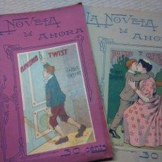 Libros antiguos: LA NOVELA DE AHORA OLIVERIO TWIST 1ªY 2ªPARTE. Lote 104325371