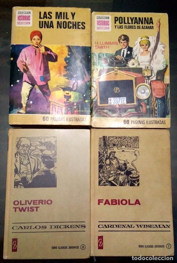 LAS MIL Y UNA NOCHE, POLLYANNA Y LAS FLORES DE AZAHAR, OLIVERIO TWIST, FABIOLA. (Libros Antiguos, Raros y Curiosos - Literatura Infantil y Juvenil - Novela)
