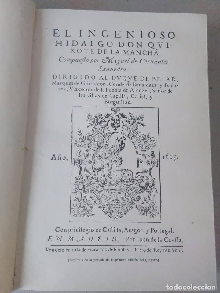 Libros antiguos: Don Quijote de la mancha aguilar 1605 - Foto 4 - 105076211