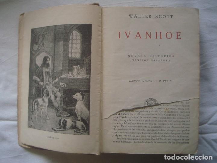 Libros antiguos: LIBRERIA GHOTICA. SATURNINO CALLEJA. BIBLIOTECA PERLA: WALTER SCOTT. IVANHOE. 1920? GRABADOS. - Foto 3 - 110038451