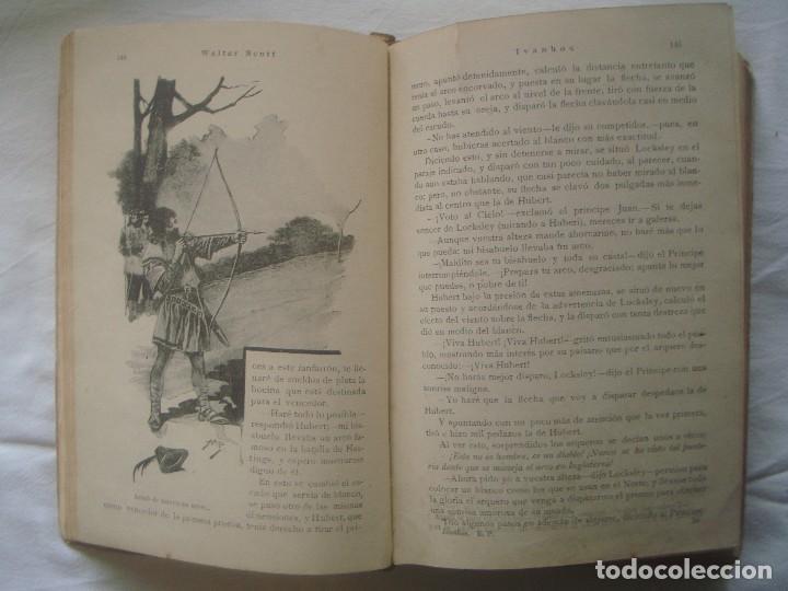 Libros antiguos: LIBRERIA GHOTICA. SATURNINO CALLEJA. BIBLIOTECA PERLA: WALTER SCOTT. IVANHOE. 1920? GRABADOS. - Foto 4 - 110038451