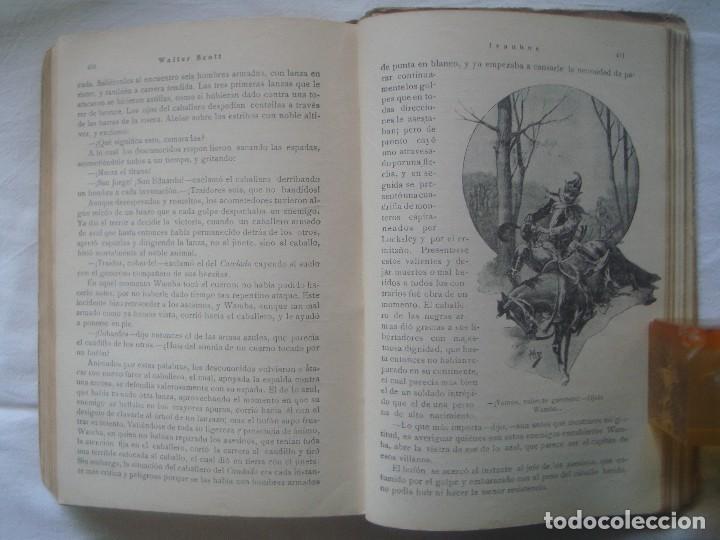 Libros antiguos: LIBRERIA GHOTICA. SATURNINO CALLEJA. BIBLIOTECA PERLA: WALTER SCOTT. IVANHOE. 1920? GRABADOS. - Foto 5 - 110038451