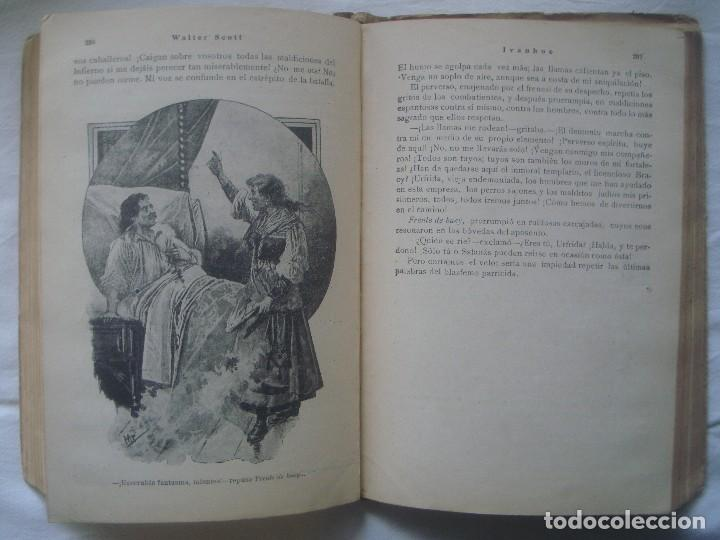 Libros antiguos: LIBRERIA GHOTICA. SATURNINO CALLEJA. BIBLIOTECA PERLA: WALTER SCOTT. IVANHOE. 1920? GRABADOS. - Foto 6 - 110038451