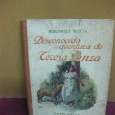 Libros antiguos: DESCONOCIDA AVENTURA DE TERESA PANZA. BIBLIOTECA SELECTA Nº 28 . EDITORIAL SOPENA 1936.. Lote 110885251