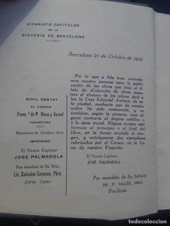 Libros antiguos: Aventuras de Robinsón crusoe ilustrado de ediciones araluce 1914 segunda edición - raro - Foto 4 - 111411759