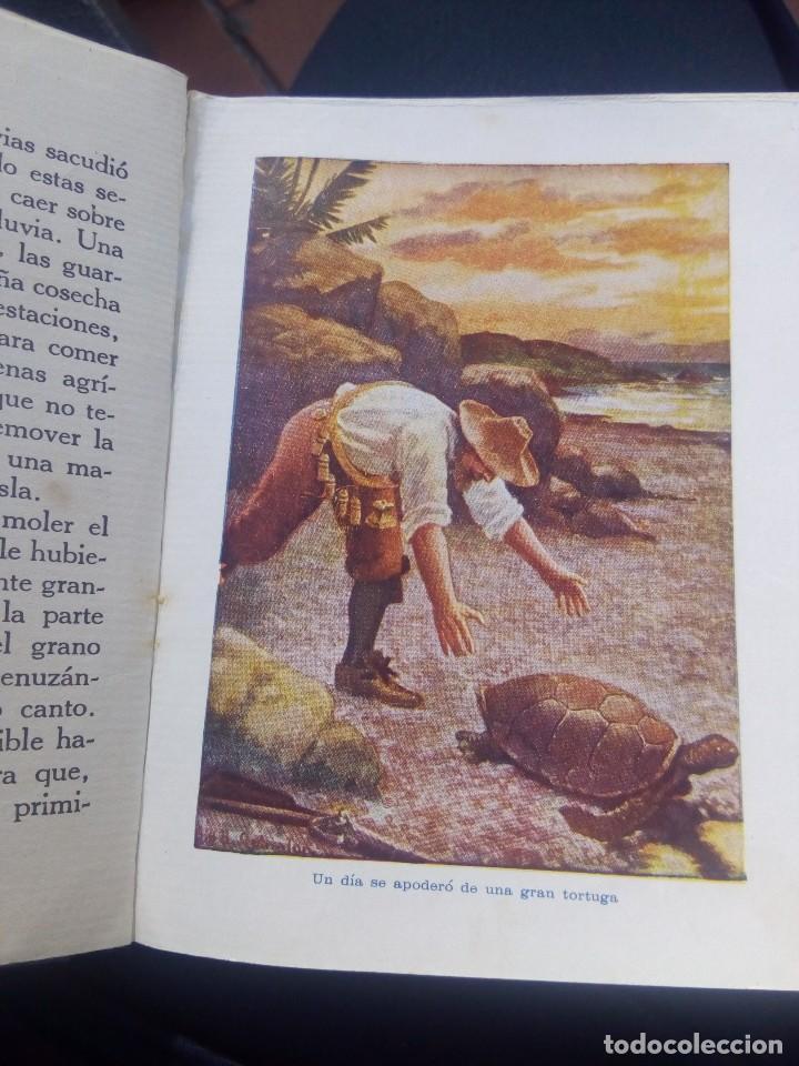 Libros antiguos: Aventuras de Robinsón crusoe ilustrado de ediciones araluce 1914 segunda edición - raro - Foto 9 - 111411759