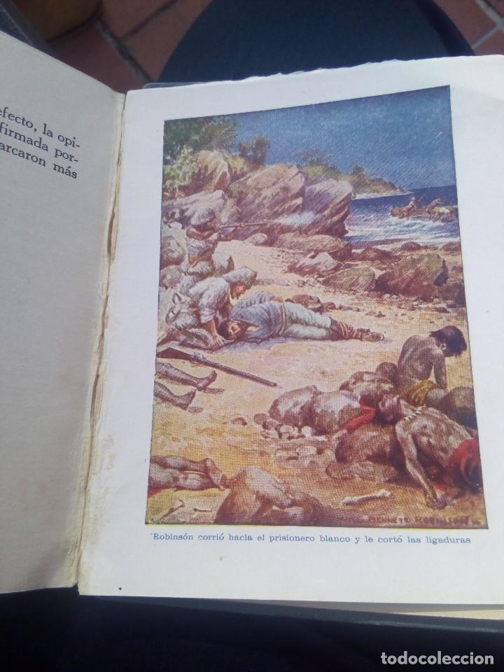 Libros antiguos: Aventuras de Robinsón crusoe ilustrado de ediciones araluce 1914 segunda edición - raro - Foto 10 - 111411759