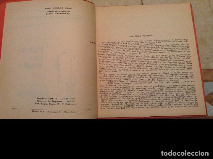 Libros antiguos: Brigadas Especiales. Muerte con escolta, de Manloe Cassy, año 1963. - Foto 3 - 111523895